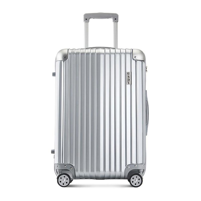 OSDY A-929 24寸铝合金包角行李箱 海关密码锁万向轮拉杆箱【颜色随机】