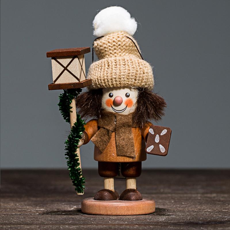 德国原产Christian Ulbricht木质手工艺品木偶挂饰持灯人