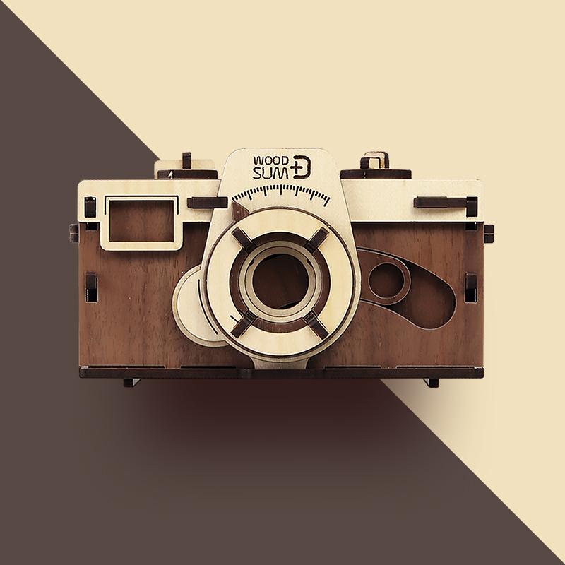 韩国原产WOODSUM手拼木板复古相机胶片相机胶卷相机