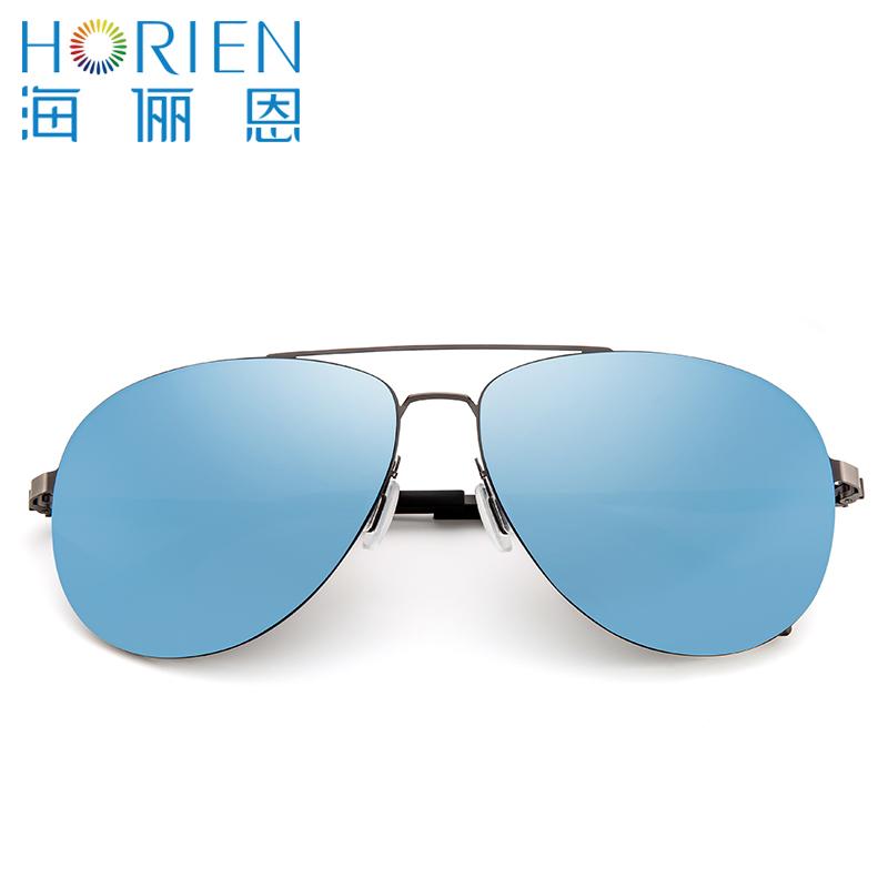 海俪恩太阳镜男潮人炫彩蛤蟆镜驾驶镜司机镜开车墨镜太阳眼镜6355N6355N01R