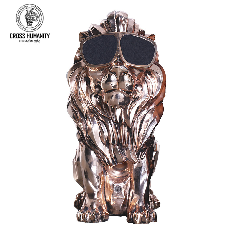 70cm 高狮子王蓝牙艺术音箱120W金色