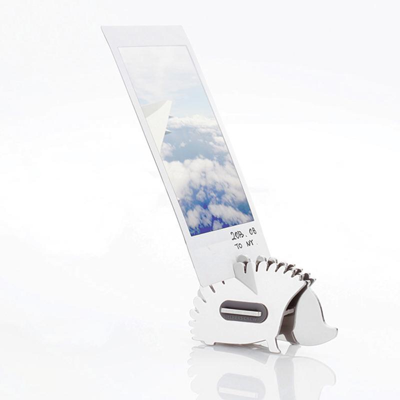 韩国原产Joosepino不锈钢DIY名片架小刺猬造型