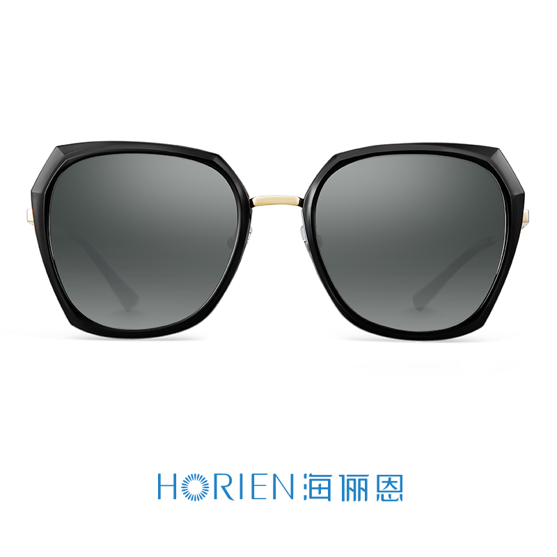 海俪恩2018新款女士偏光太阳镜优雅大框墨镜时尚潮人唐嫣同款6625N6625P26