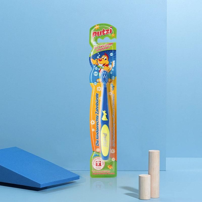 德国原产putzi璞慈软毛儿童牙刷乳牙刷宝宝训练牙刷