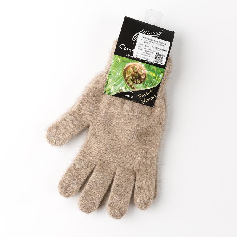 新西兰COMFORT SOCKS美利奴羊毛手套五指手套全指手套棕色 XS