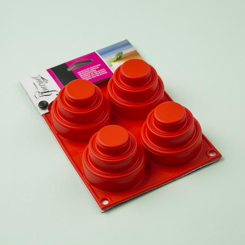 意大利原产Gamme gourmet 迷你三层蛋糕4连硅胶模