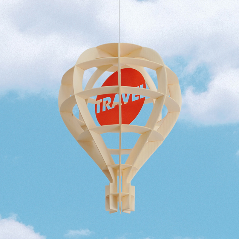 韩国原产TUNAPAPER创意纸质挂饰挂件门饰热气球