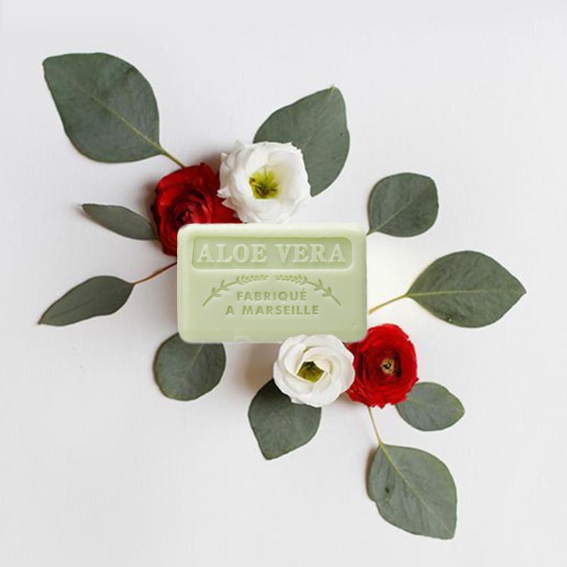 法国原产FOUFOUR植物精油手工皂马赛皂沐浴皂洗脸皂香皂 芦荟