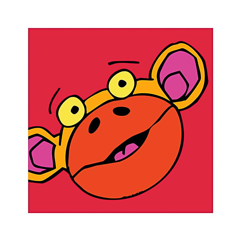 英国原产IONA饥饿的猴子卡通图案商务祝福贺卡明信片