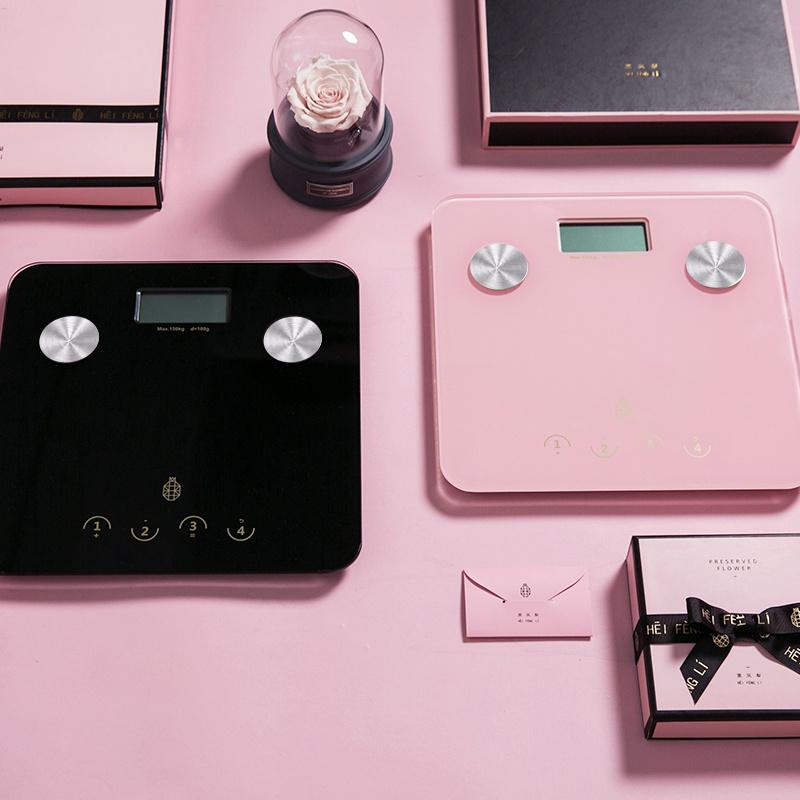 健康体脂秤-黑色/粉色
