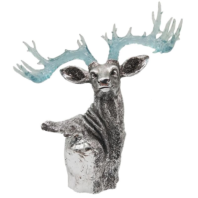 22cm高 鹿首蓝牙艺术音箱8W 银色
