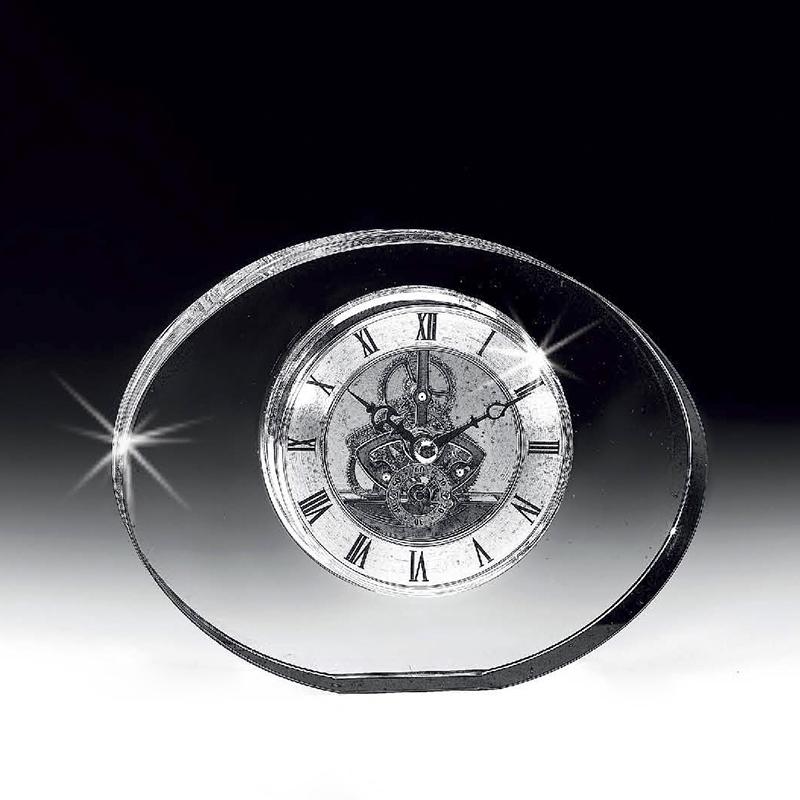 意大利原产Ranoldi水晶摆件 时钟客厅静音钟表座钟台钟摆件