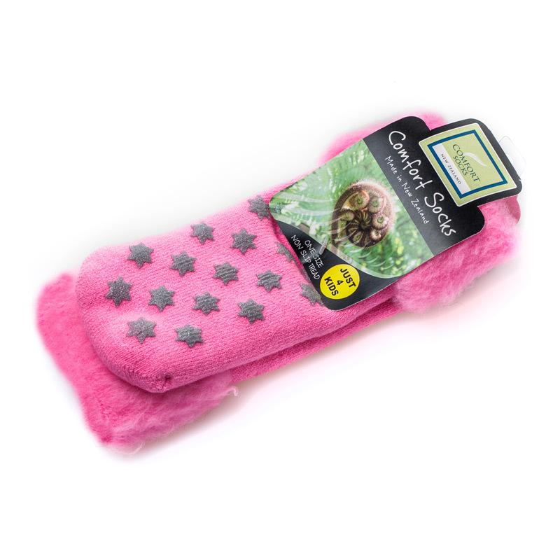 新西兰原产COMFORT SOCKS儿童保暖羊毛袜子粉红
