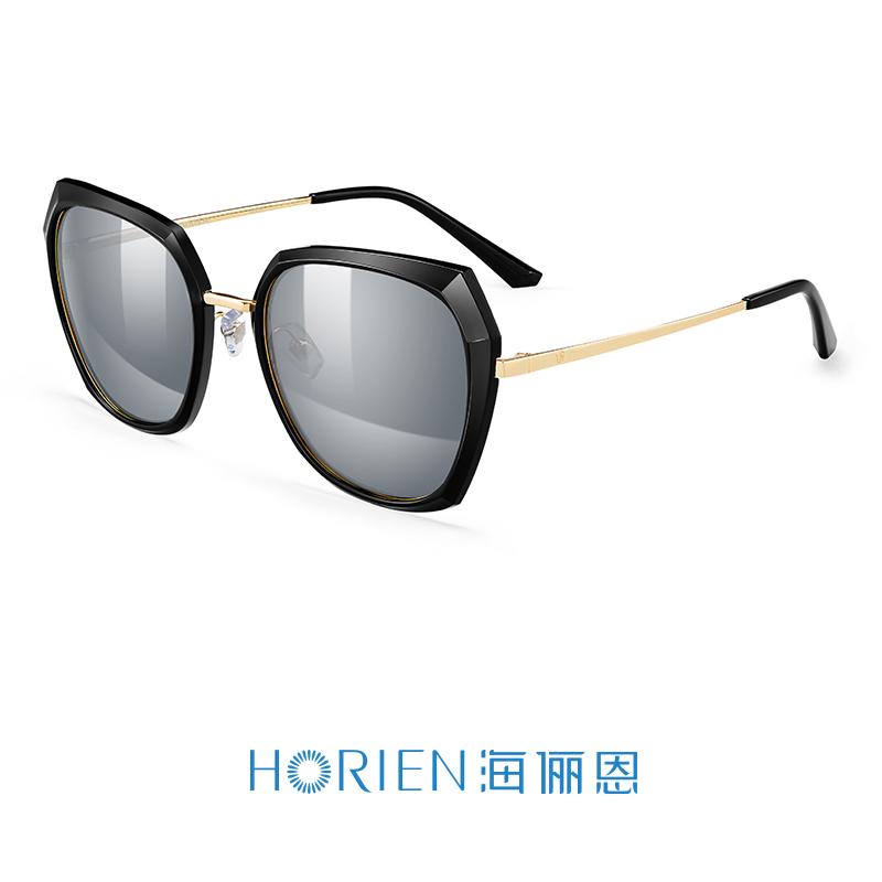 海俪恩2018新款女士偏光太阳镜优雅大框墨镜时尚潮人唐嫣同款6625N6625P16