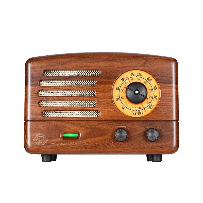 猫王收音机 猫王2(胡桃木)典藏原木质复古收音机蓝牙音箱