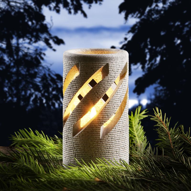 芬兰原产HUKKA滑石烛台 摆件装饰烛台JÄTKÄ
