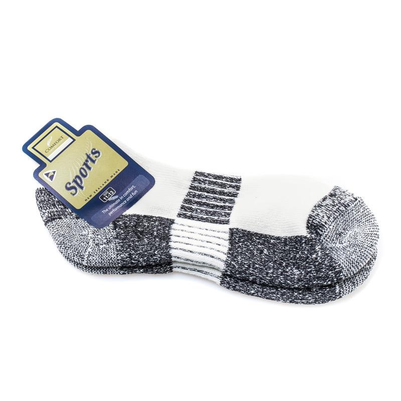 新西兰原产COMFORT SOCKS 羊毛混纺专业运动袜登山徒步袜中灰 22-24.5cm