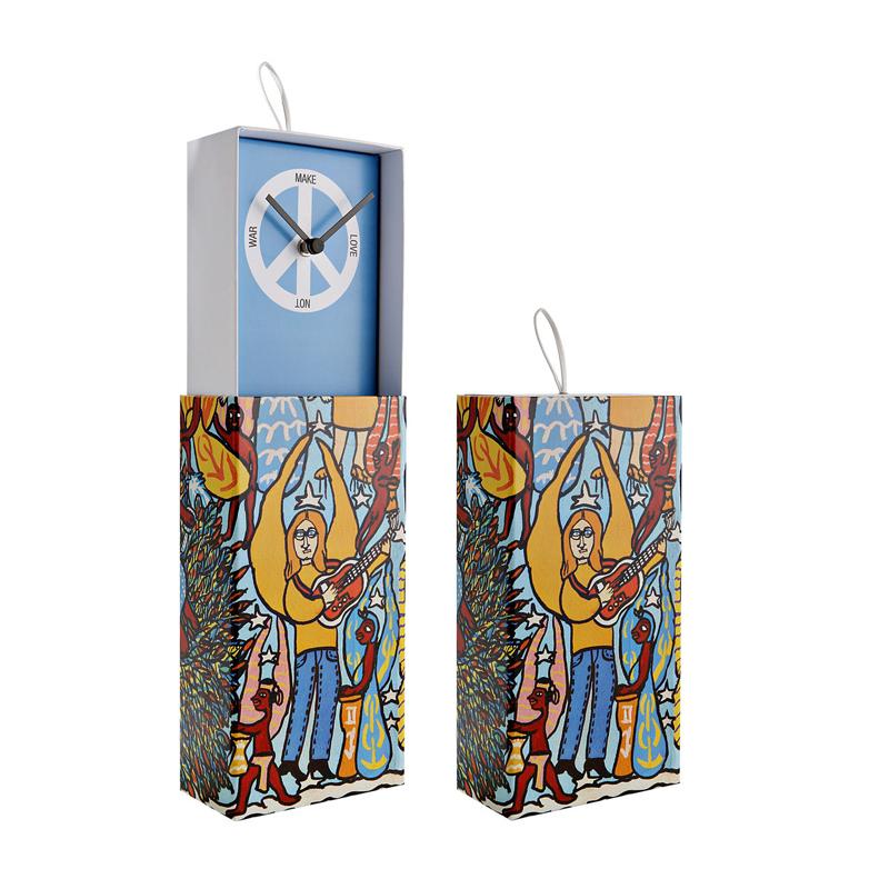 意大利原产Creativando藏在盒子里的钟表时钟挂钟和平天蓝