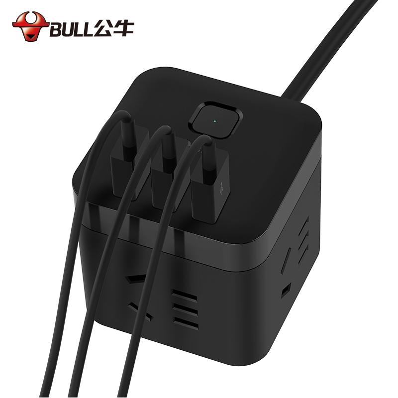 公牛BULL黑魔方USB插座U303H