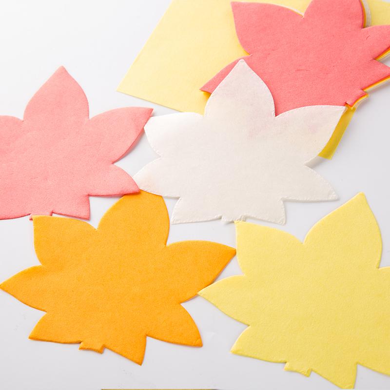 日本原产Ishikawa 美浓和纸蛋糕纸垫 枫叶