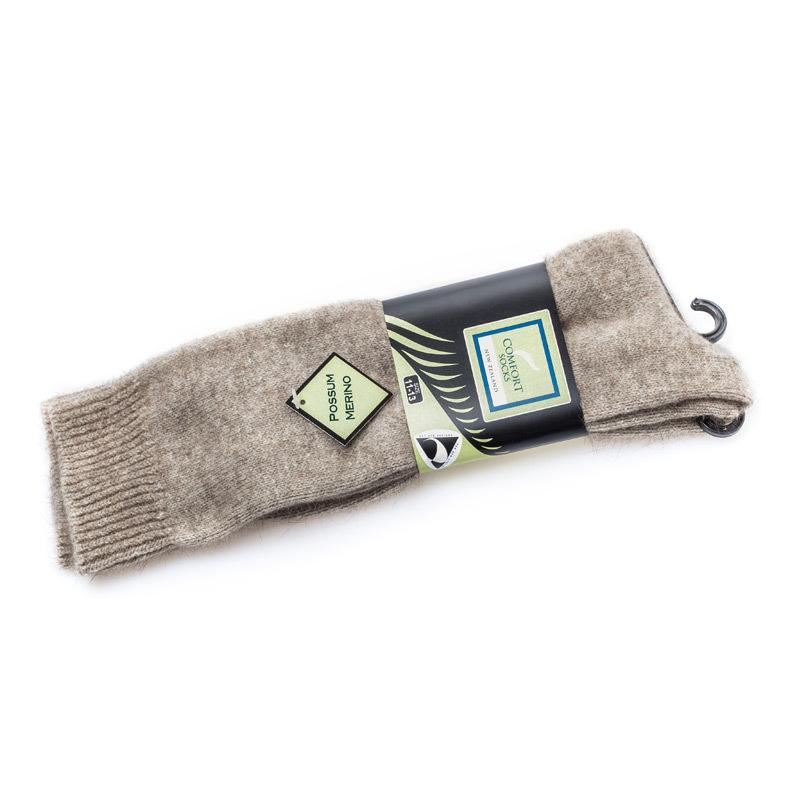 新西兰原产COMFORT SOCKS负鼠毛舒适上班袜子棕色 23cm