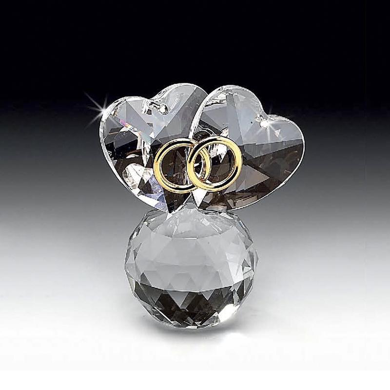 意大利原产Ranoldi永结同心水晶摆件 欧式摆件水晶摆件工艺品