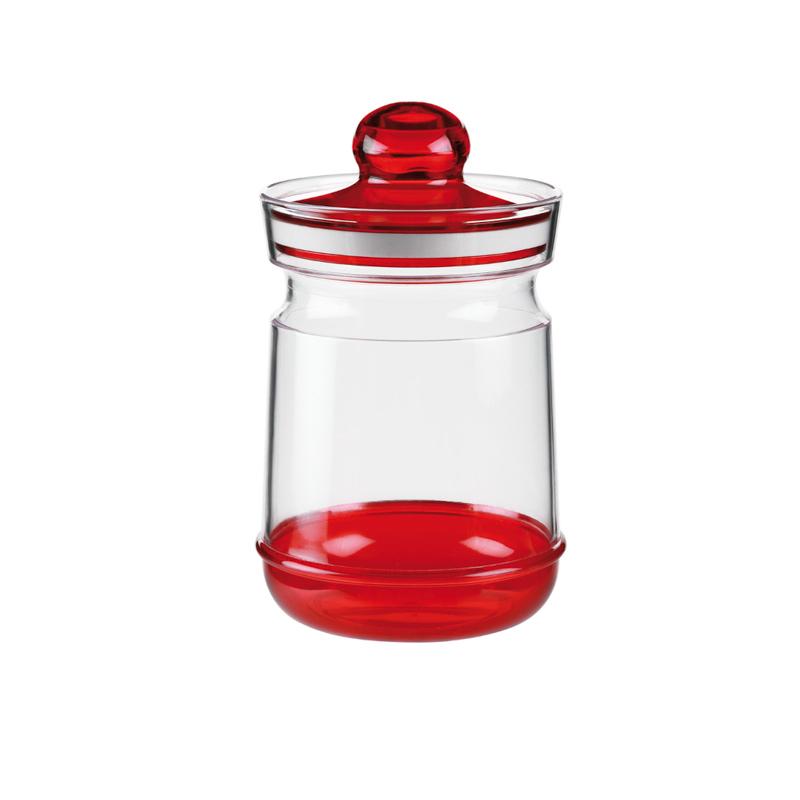 意大利原产Cosmoplast巴洛克系列 罐塑料储物罐 调味罐红色 XS