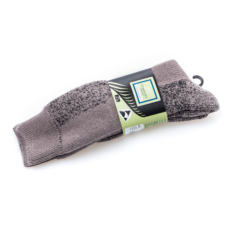 新西兰原产COMFORT SOCKS羊毛全能通用袜中灰 18.5cm