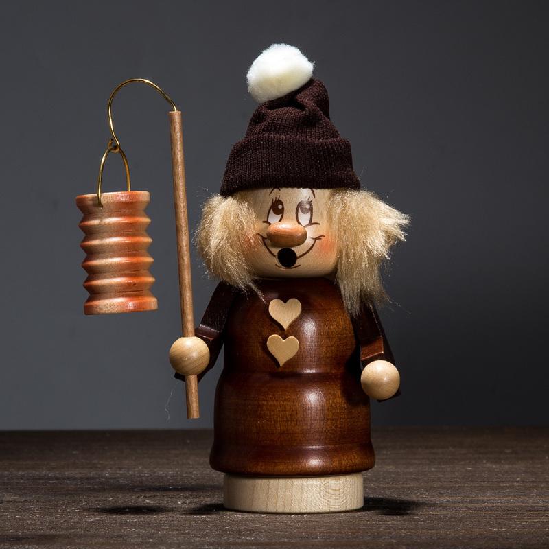 德国原产Christian Ulbricht木质手工木偶摆件持灯女孩