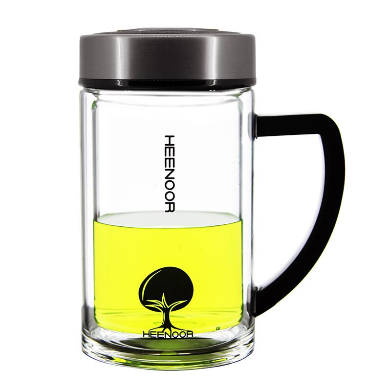 希诺办公玻璃杯(本色)XN-6621