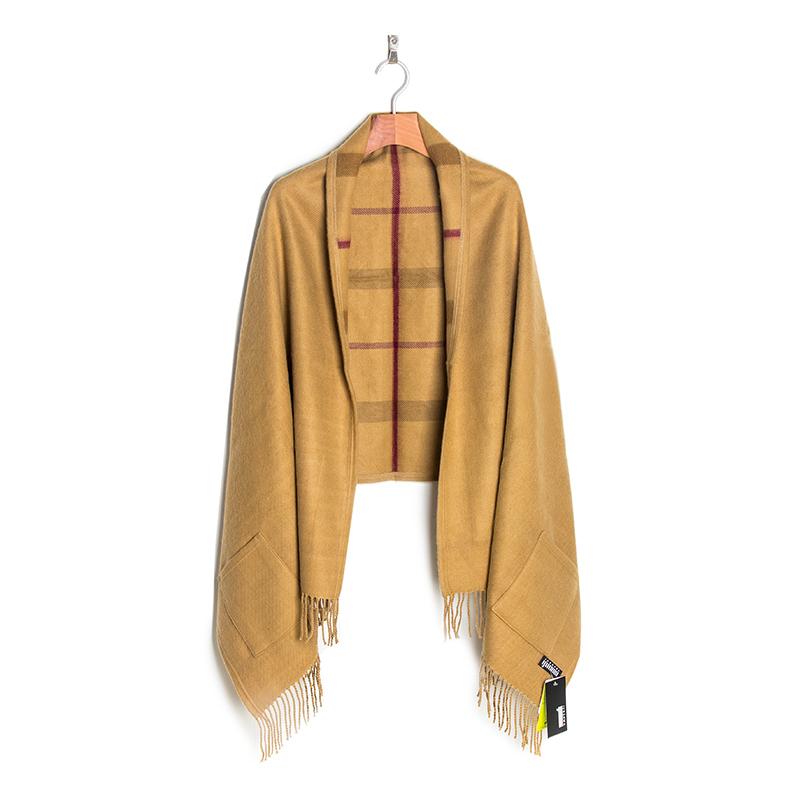 韩国原产JUNGHWA时尚英伦披风围巾披肩