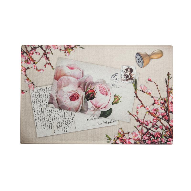 德国原产AKZENTE Gallery系列地毯脚垫门厅垫 玫瑰明信片
