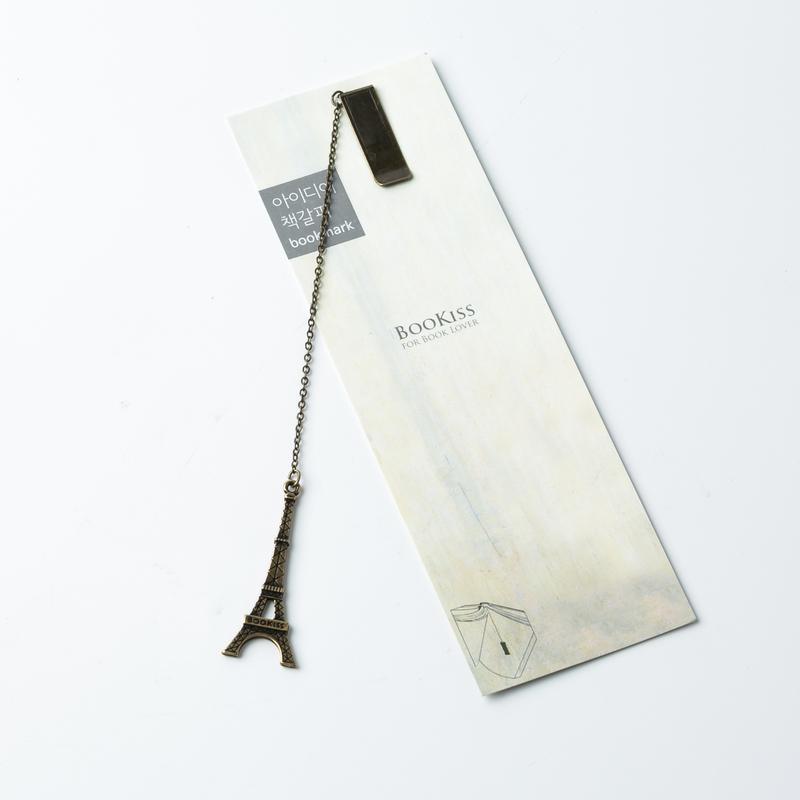 韩国原产BooKiss创意复古书签金属书签文具礼品