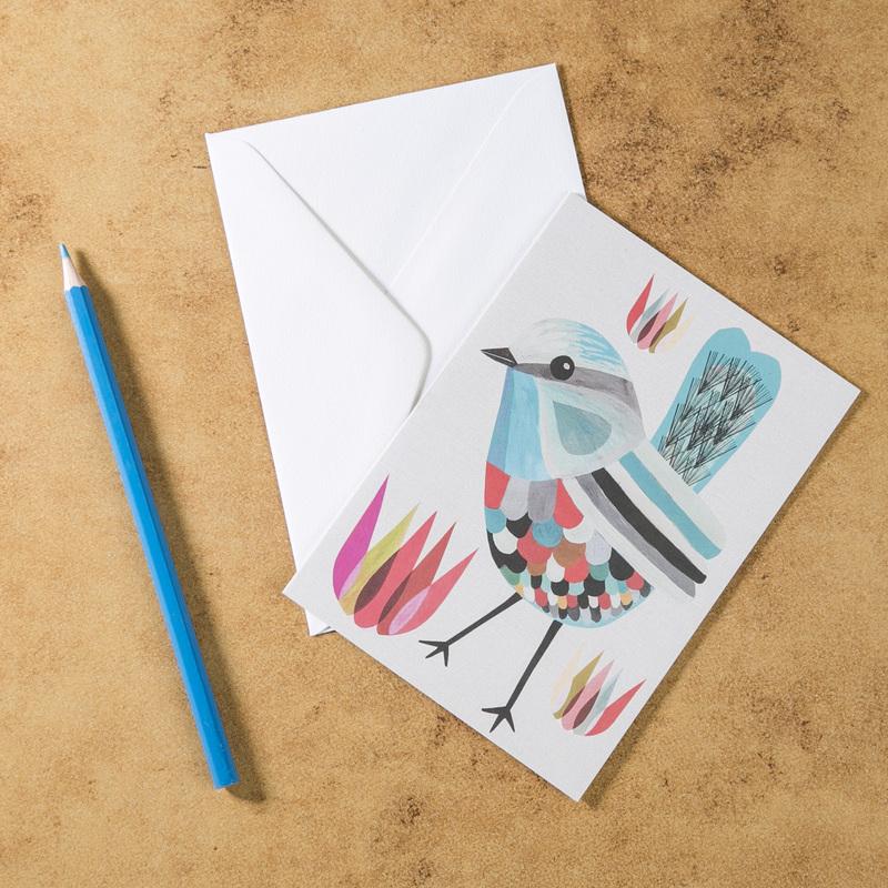 新西兰原产Tikitibu 锦绣童话鹪鹩 贺卡明信片创意生日贺卡
