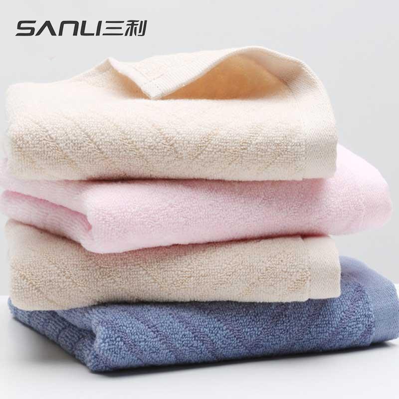 三利舒雅面巾2条礼盒装毛巾