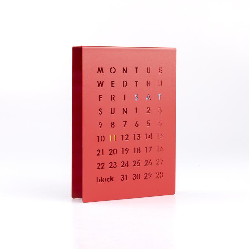 英国原产block创意万年历日历(红色)