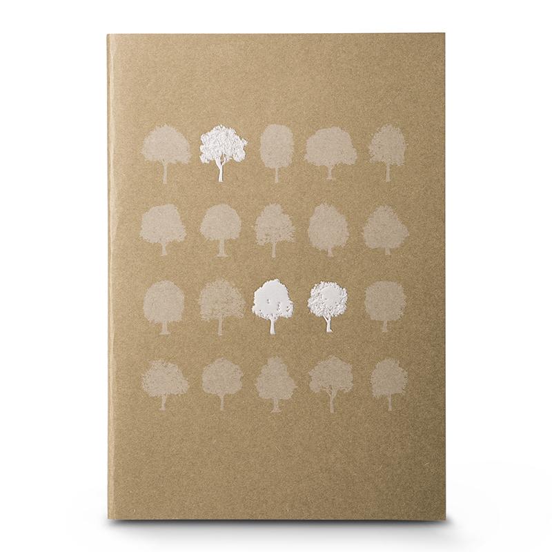 韩国原产JIGOONAMOO 环保纸笔记本日记本创意小树图案