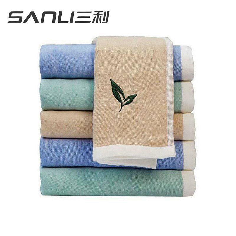 三利绿茶面巾2条礼盒装毛巾