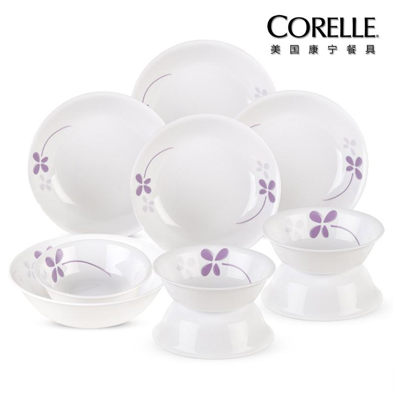 CORELLE 美国康宁餐具 紫色幸运草系列 CR-NWP03(十件套)