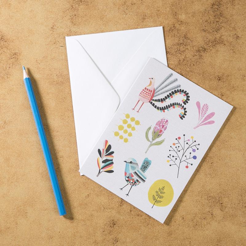 新西兰原产Tikitibu 花园派对 贺卡明信片创意生日贺卡