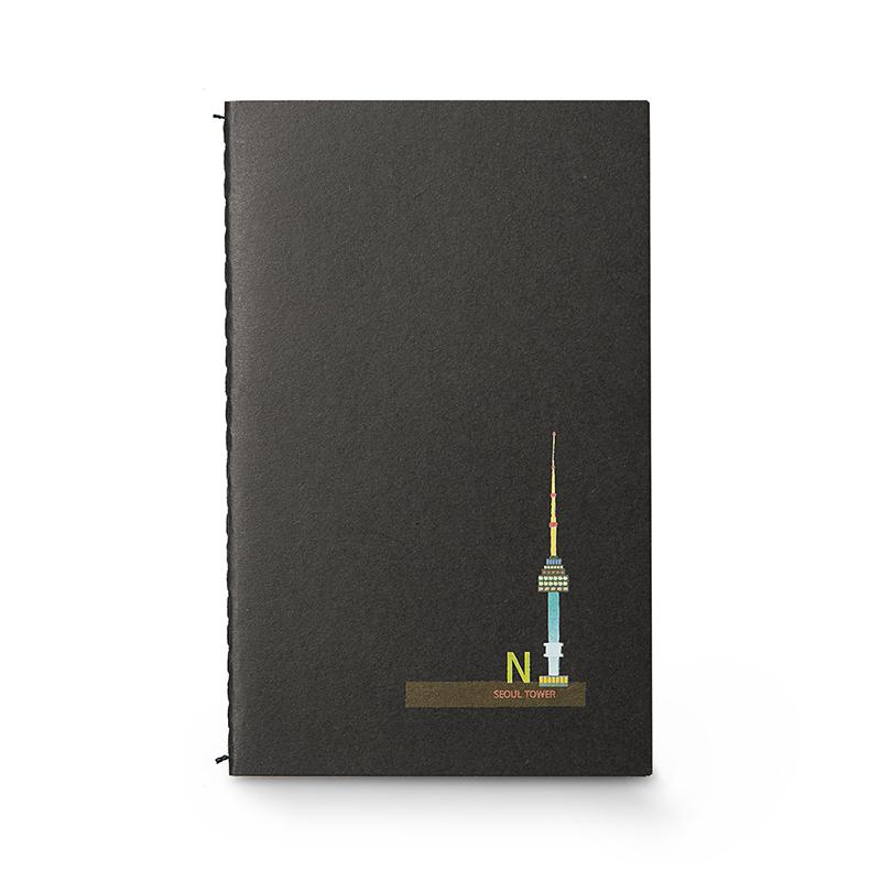 韩国原产JIGOONAMOO 环保纸便携笔记本日记本 首尔塔
