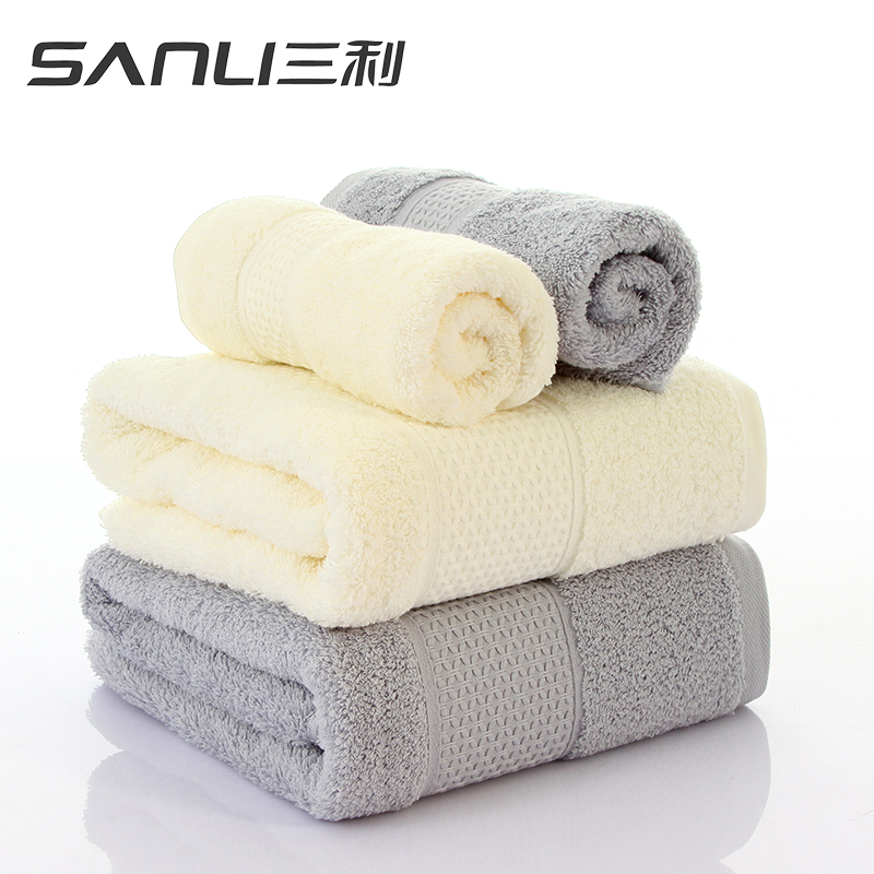 三利臻品长绒棉面巾2条礼盒装毛巾