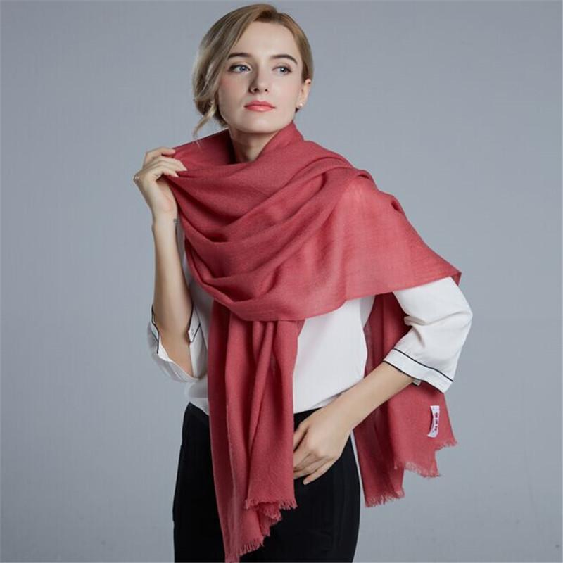 恒源祥丝光羊毛围巾披肩(枣红)HYX1001