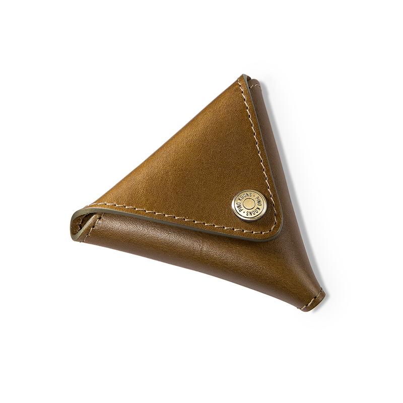 韩国原产Jacomola三角形零钱包女士钱包牛皮钱包