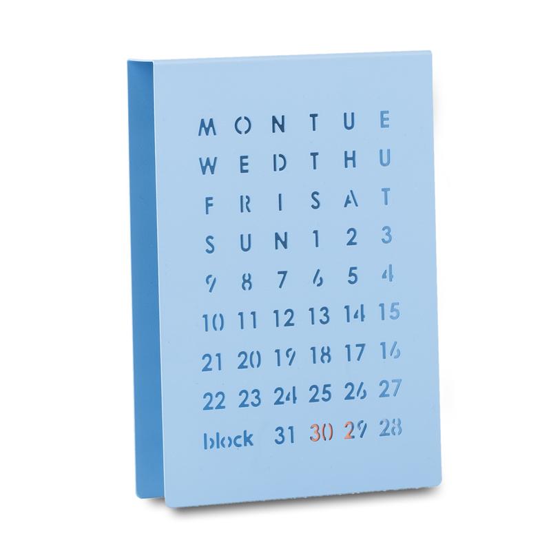 英国原产block创意万年历日历(蓝色)