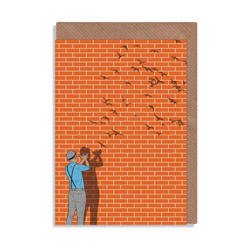 英国原产ROBBIE PORTER创意明信片礼物贺卡手影