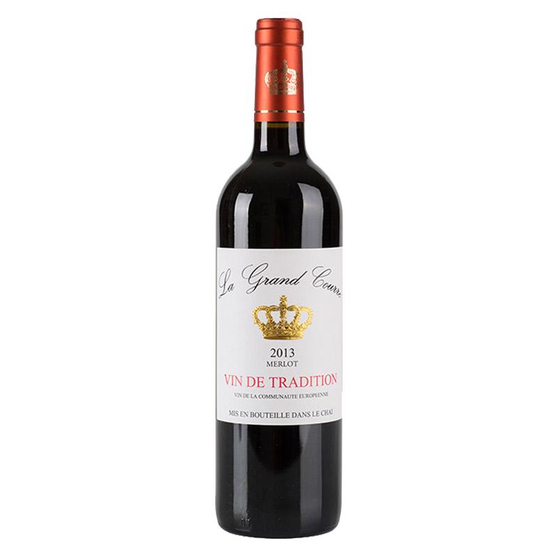 拉科瑞美乐皇冠干红葡萄酒750ml 法国进口红酒 小黑马优选