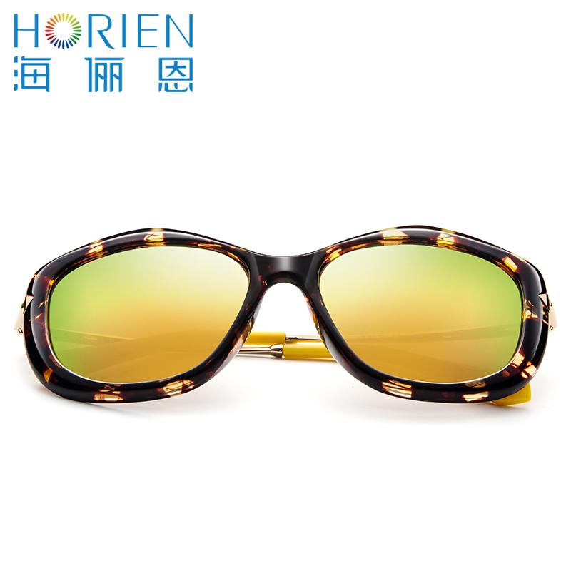 海俪恩太阳眼镜女 大框圆脸时尚女士潮流驾驶偏光镜墨镜女6315N6315P11