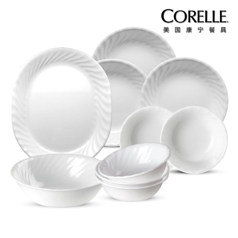 CORELLE 美国康宁餐具 螺纹系列 CR-W04(螺纹十件套)