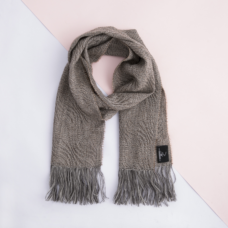 新西兰Stansborough指环王系列灰羊毛保暖围巾26x180cm